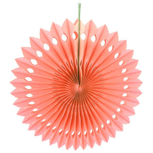 Paper fan pinwheels - 5 pieces - peach - Socialness