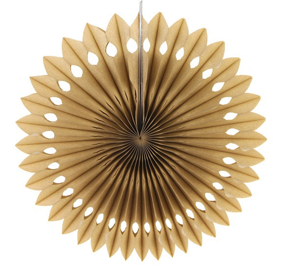 Paper fan pinwheels - 5 pieces - tan - Socialness