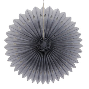Paper fan pinwheels - 5 pieces - grey - Socialness