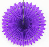 Paper fan pinwheels - 5 pieces - purple - Socialness