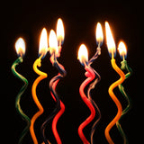 Curve & bend cake candles - 8 pieces - Socialness