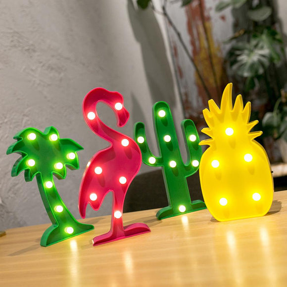 Tropical LED table lights - Socialness
