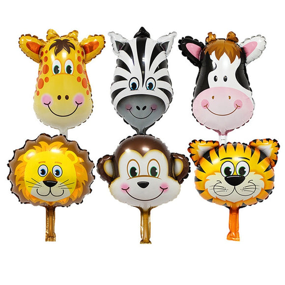Safari party foil balloon set - 6 pieces - Socialness