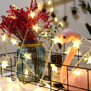 Star twinkle LED string lights - Socialness
