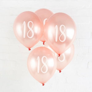 Rose gold age balloons - 10 pieces - Socialness
