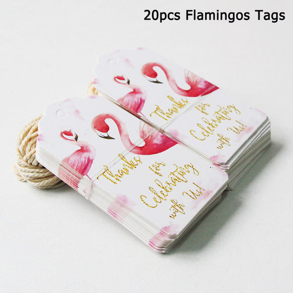 Flamingo thank you tags - 20 pieces - Socialness