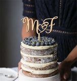 Personalised initial letters cake topper