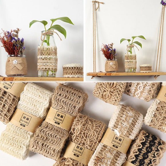 Natural jute ribbon decoration - Socialness