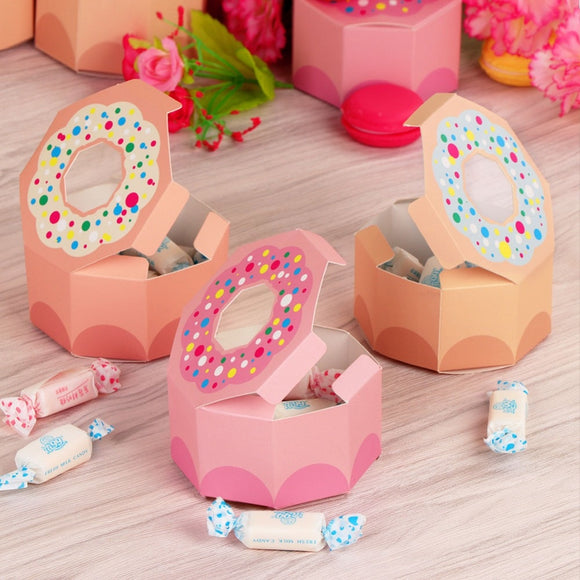 Donut party candy box - 10 pieces - Socialness