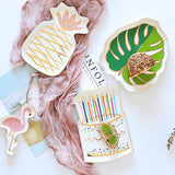 Small tropical porcelain snack plates - Socialness