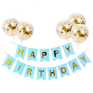 Happy Birthday banner & balloon set - Socialness