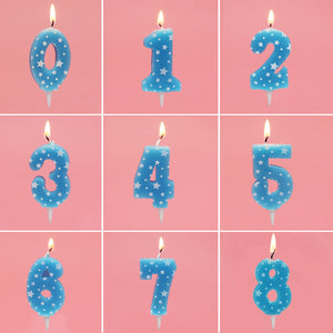 Blue star number candles - Socialness