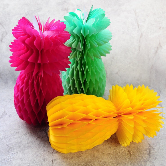 Pineapple honeycomb lanterns - Socialness