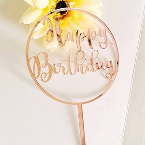 Happy Birthday acrylic cake toppers - Socialness