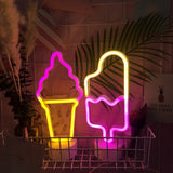Ice cream lollipop neon LED lights - Socialness
