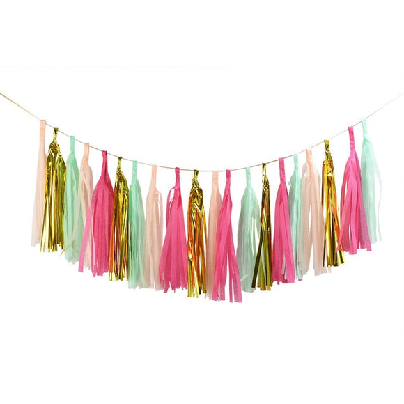 Paper tassel garland - ice cream - Socialness