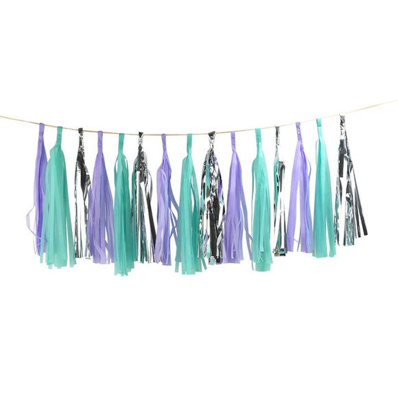 Paper tassel garland - mermaid - Socialness