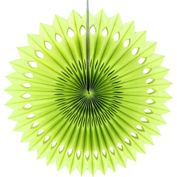 Paper fan pinwheels - 5 pieces - Fruit Green - Socialness