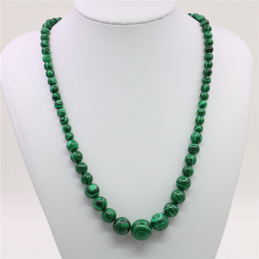 Collier Anti-douleur en perles de Malachite