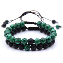 Charger l'image dans la galerie, Bracelets simple ou double Anti-douleur en Malachite