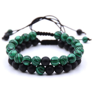 Bracelets simple ou double Anti-douleur en Malachite