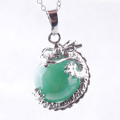Collier de chance en Aventurine et dragon
