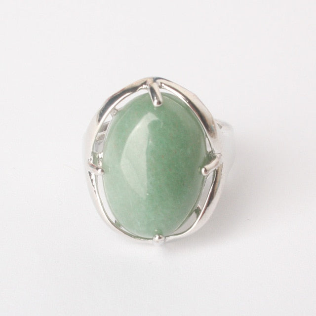 Bague porte Chance redimensionnable en Aventurine