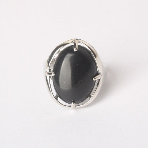 Bague de Protection redimensionnable en Obsidienne
