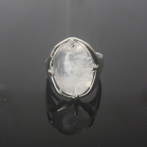Bague redimensionnable en Quartz blanc