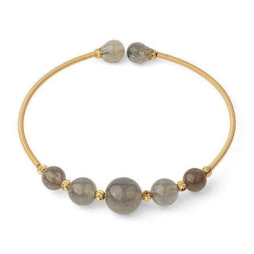 Bracelet Bangle de Protection en Labradorite