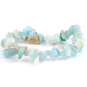 Bracelet baroque anti-migraine en Amazonite