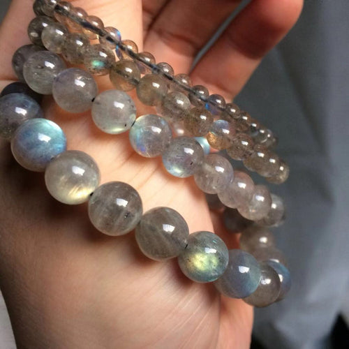 Bracelet Anti Fatigue en perles de Labradorite de 4 à 10 mm