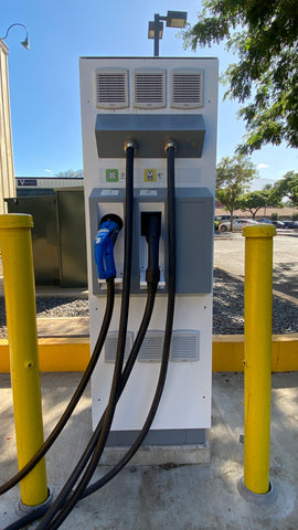 Green Charging Station - Electric Vehicle