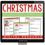 DIGITAL CHRISTMAS WRITING ACTIVITY DATING PROFILES | DISTANCE LEARNING