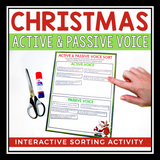 CHRISTMAS ACTIVE AND PASSIVE VOICE: INTERACTIVE SORTING ACTIVITY