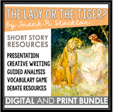 THE LADY OR THE TIGER FRANK STOCKTON SHORT STORY DIGITAL AND PRINT RESOURCES