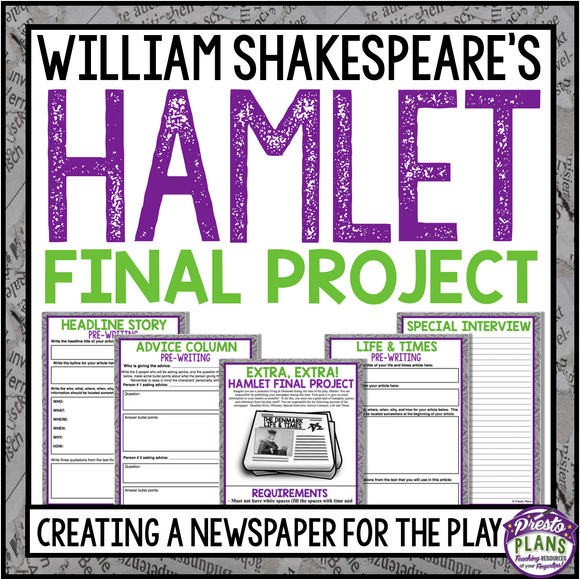 HAMLET CREATIVE PROJECT / ASSIGNMENT: CREATE A NEWSPAPER