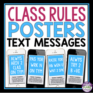 CLASS RULES POSTERS: TEXT MESSAGES