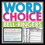 WORD CHOICE BELL RINGERS & TASK CARDS: IMPROVE VOCABULARY