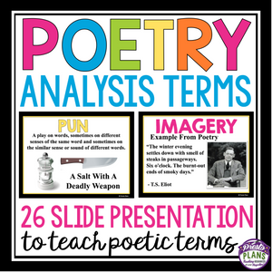 POETRY TERMS FIGURATIVE LANGUAGE PRESENTATION