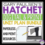 HATCHET UNIT PLAN DIGITAL / PRINT BUNDLE (USE WITH GOOGLE DRIVE OR PRINT)