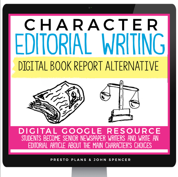 DIGITAL BOOK REPORT PROJECT FOR ANY STORY - EDITORIAL | DISTANCE LEARNING