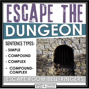 SENTENCE TYPES ESCAPE ROOM BELL RINGERS (SIMPLE, COMPOUND, COMPLEX, & CC)