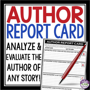 SHORT STORY NOVEL ASSIGNMENT AUTHOR REPORT CARD