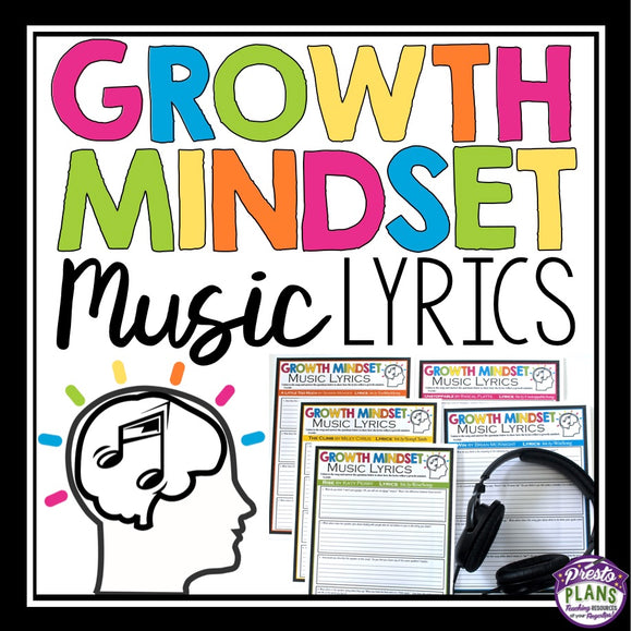 GROWTH MINDSET SONGS / MUSIC ASSIGNMENT