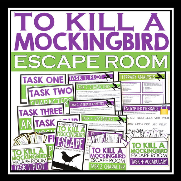 TO KILL A MOCKINGBIRD ESCAPE ROOM NOVEL ACTIVITY