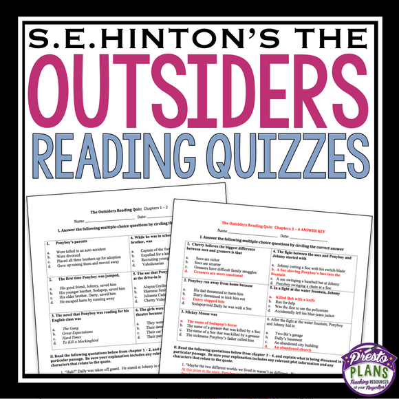 OUTSIDERS QUIZZES