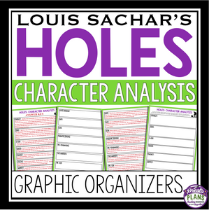 HOLES CHARACTERS GRAPHIC ORGANIZERS ASSIGNMENT