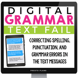 DIGITAL GRAMMAR BELL RINGERS: TEXT MESSAGES GOOGLE | DISTANCE LEARNING