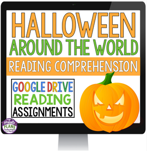 HALLOWEEN AROUND THE WORLD DIGITAL PAPERLESS GOOGLE DRIVE / GOOGLE CLASSROOM